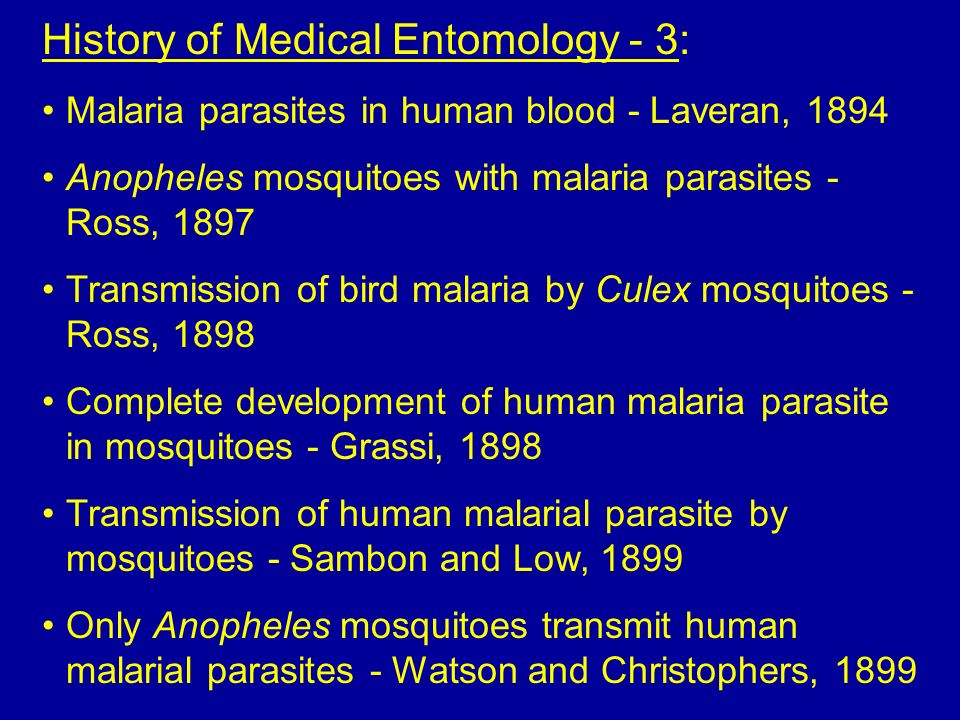 History of Medical Entomology - 3: