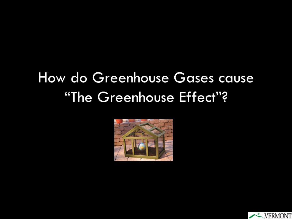 How do Greenhouse Gases cause The Greenhouse Effect