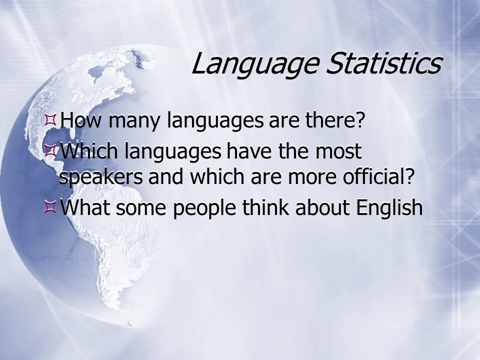 Some Fundamental Points Of Language Ppt Download - What languages are there
