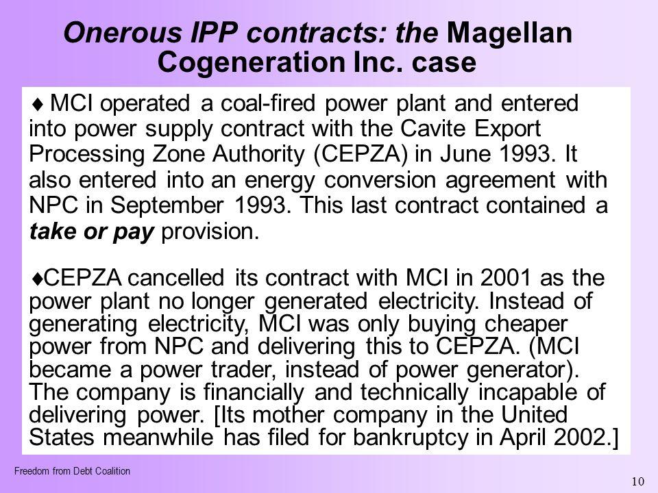 Ana maria r nemenzo president fdc ppt download onerous ipp contracts the magellan cogeneration inc case platinumwayz