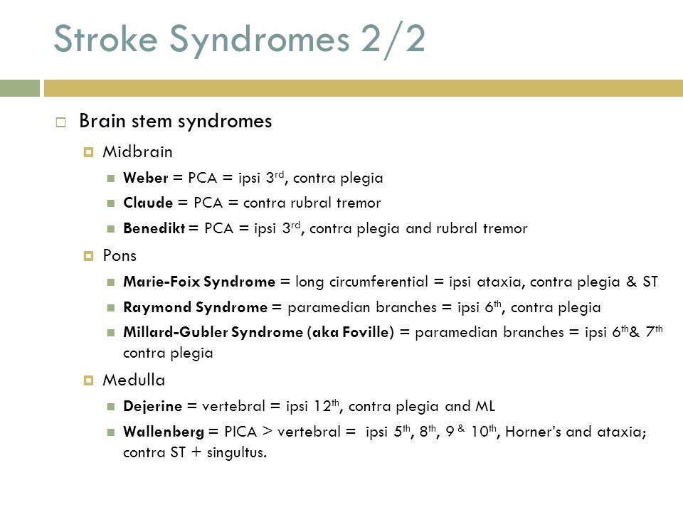 stroke syndromes