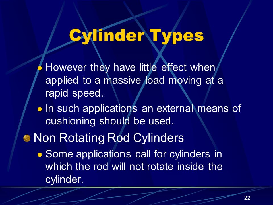Cylinder Types Non Rotating Rod Cylinders