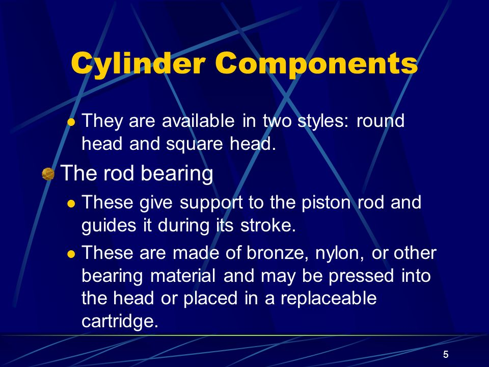 Cylinder Components The rod bearing