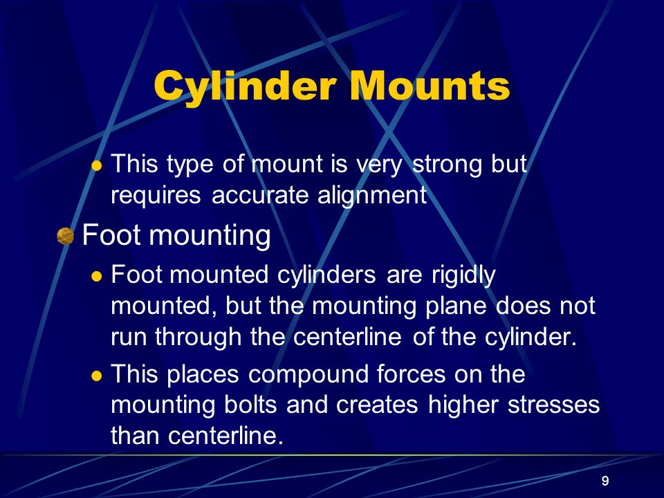 Cylinder Mounts Foot mounting