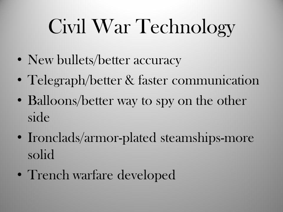 Civil War Technology New bullets/better accuracy