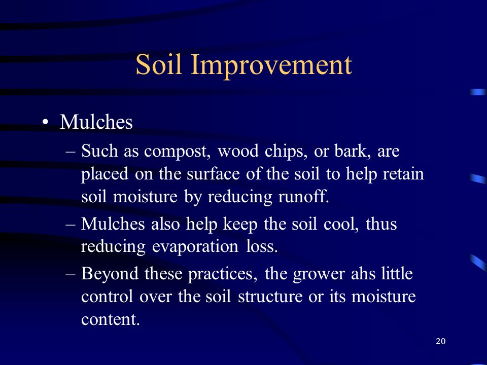 Soil Improvement Mulches