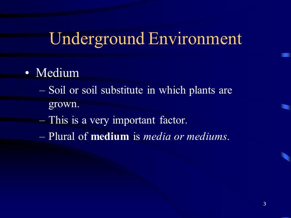 Underground Environment