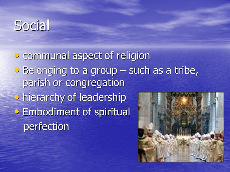 Social communal aspect of religion