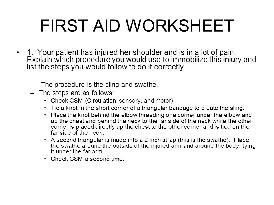 First Aid Worksheet ppt video online download – First Aid Worksheet