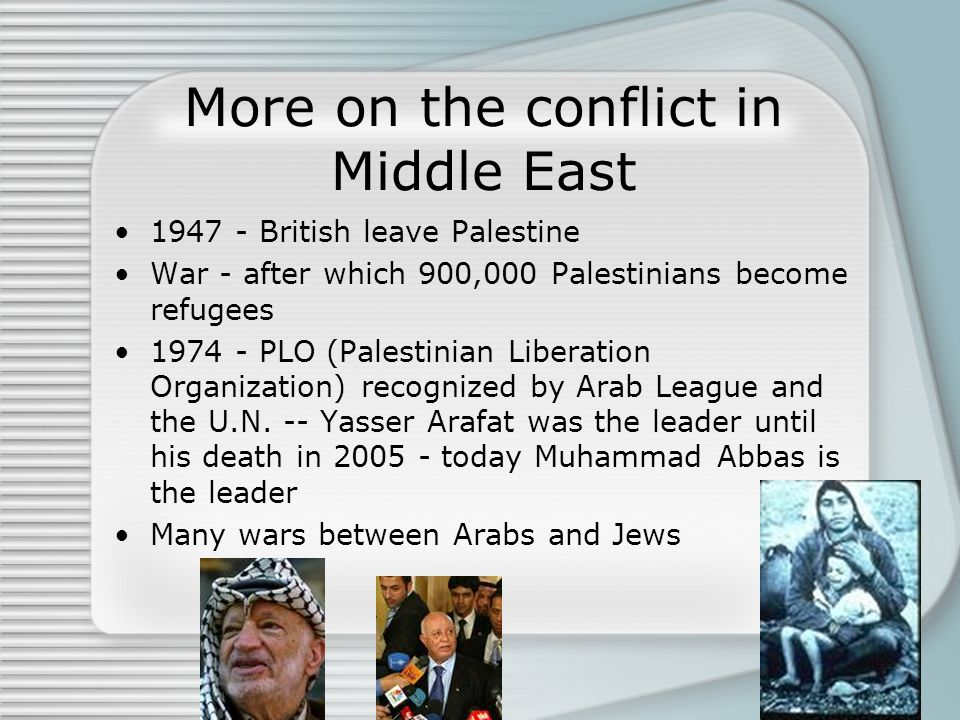 More on the conflict in Middle East