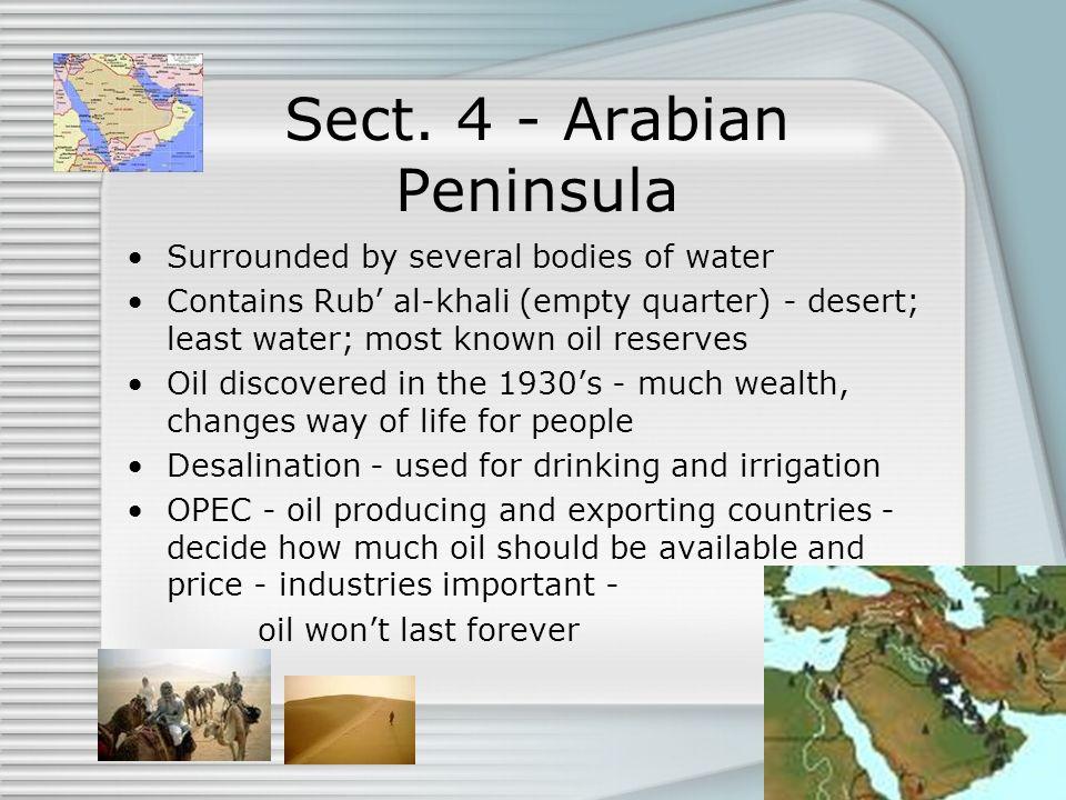 Sect. 4 - Arabian Peninsula