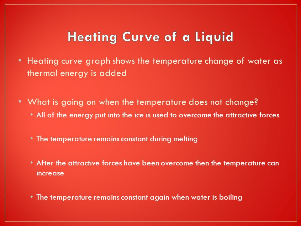Heating Curve of a Liquid