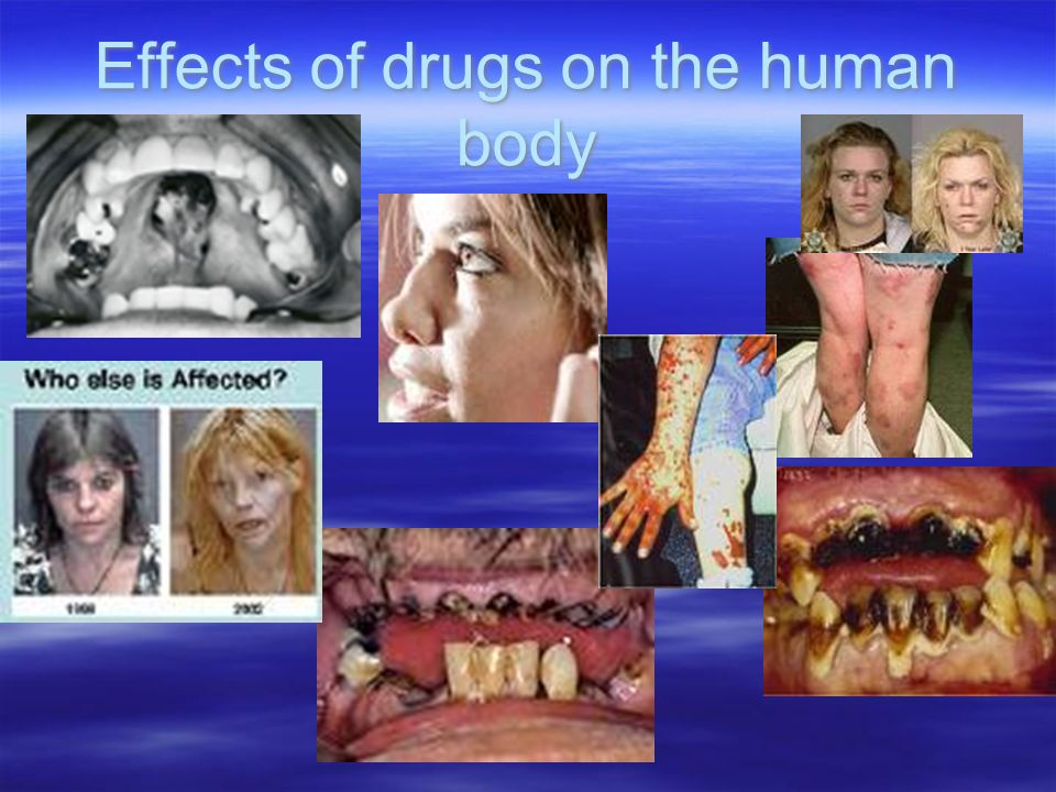 Effects of drugs on the human body