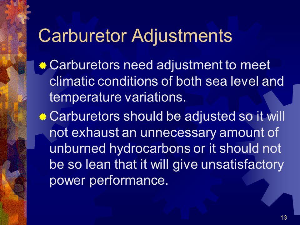 Carburetor Adjustments