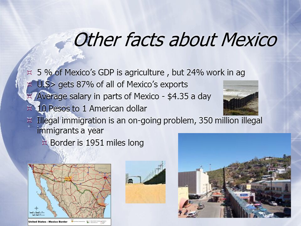 Other facts about Mexico