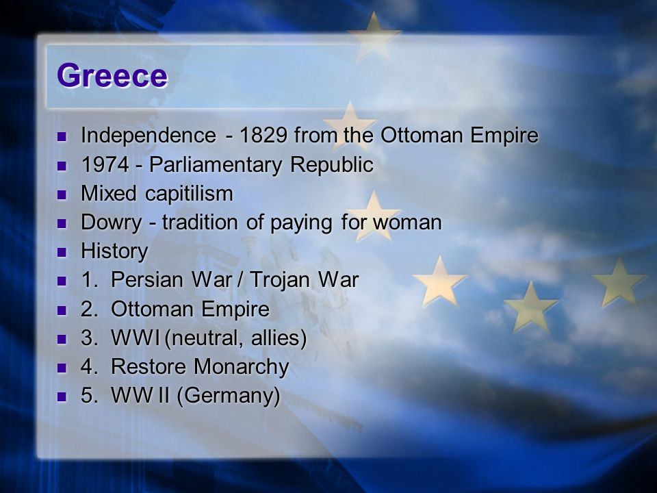 Greece Independence - 1829 from the Ottoman Empire