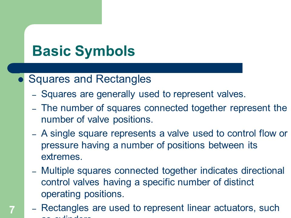 Basic Symbols Squares and Rectangles