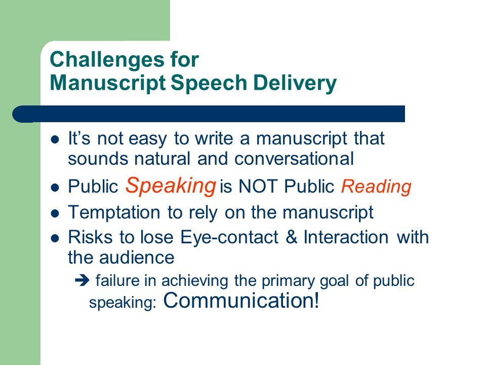 how to write a manuscript speech That attitude will kill a speech every time you've probably sat through some lousy speeches  10 keys to writing a speech  as you write and revise, focus on structuring and simplifying.