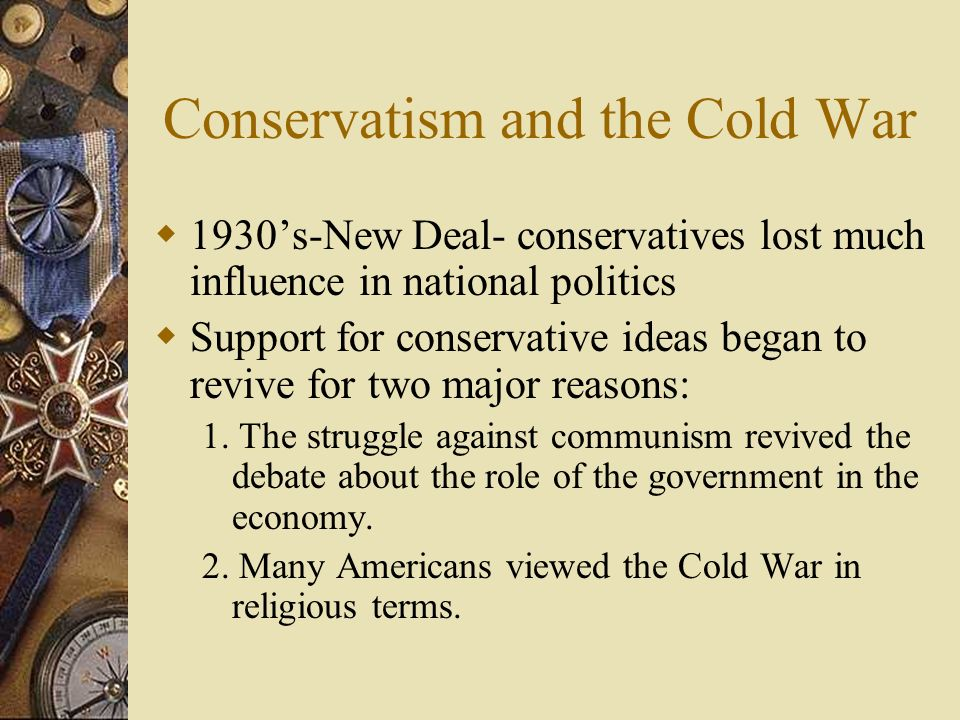 Conservatism and the Cold War