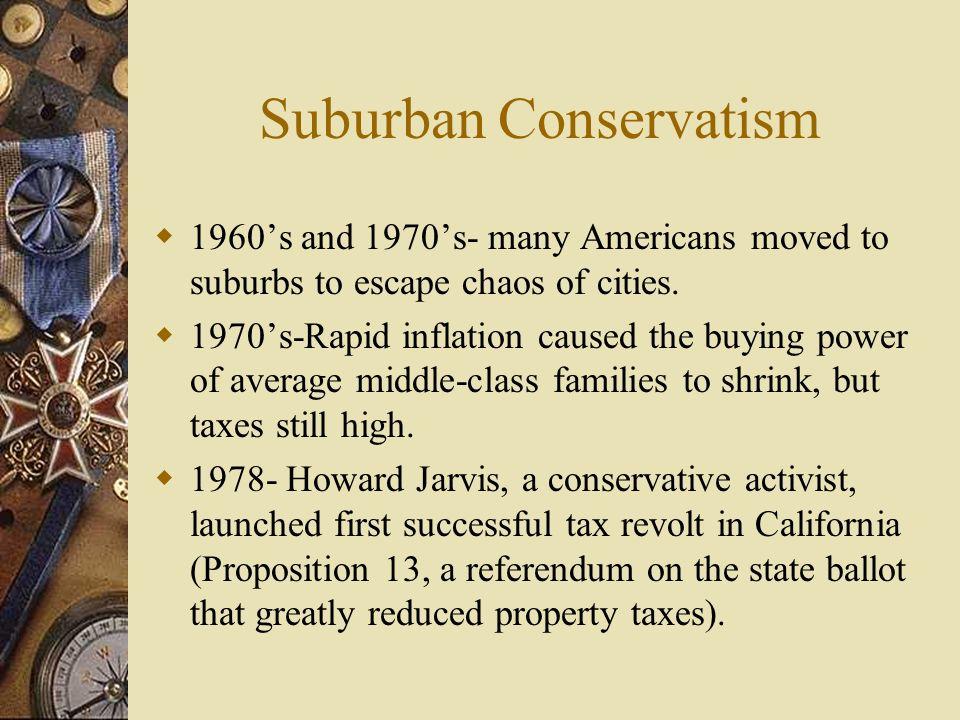 Suburban Conservatism