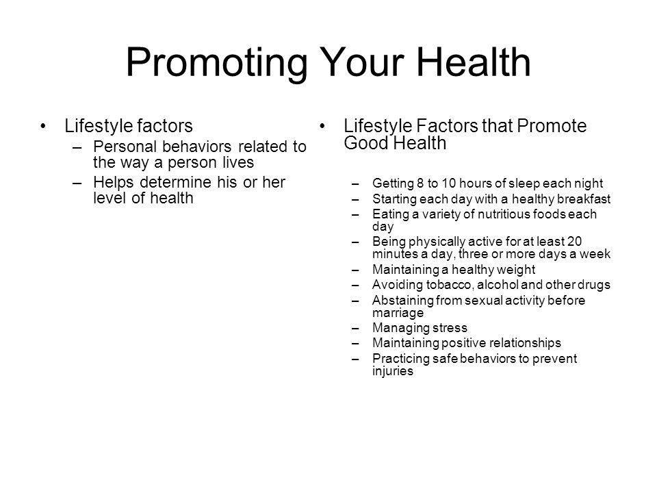 The factors that determine the positive health behaviors of a community