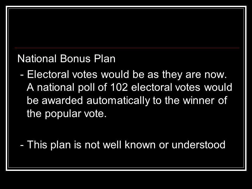 National Bonus Plan