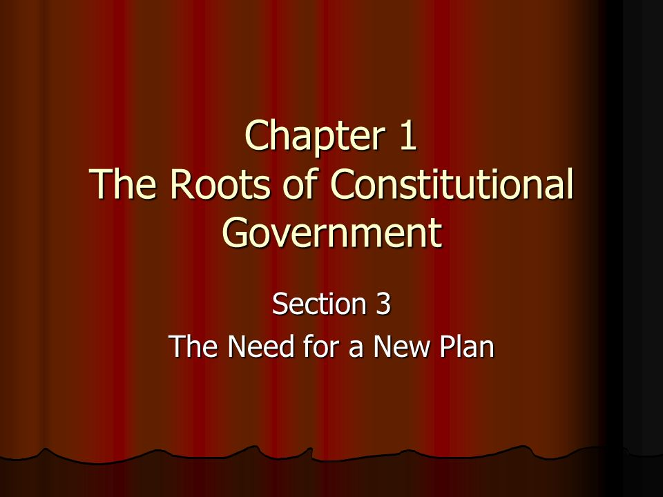 Chapter 1 The Roots of Constitutional Government