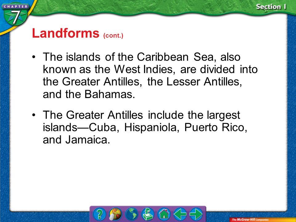 Landforms (cont.)