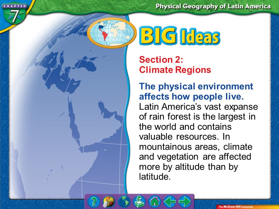 Section 2: Climate Regions