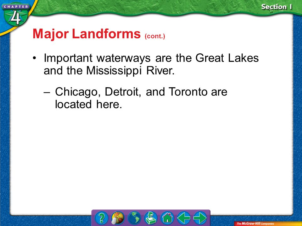 Major Landforms (cont.)