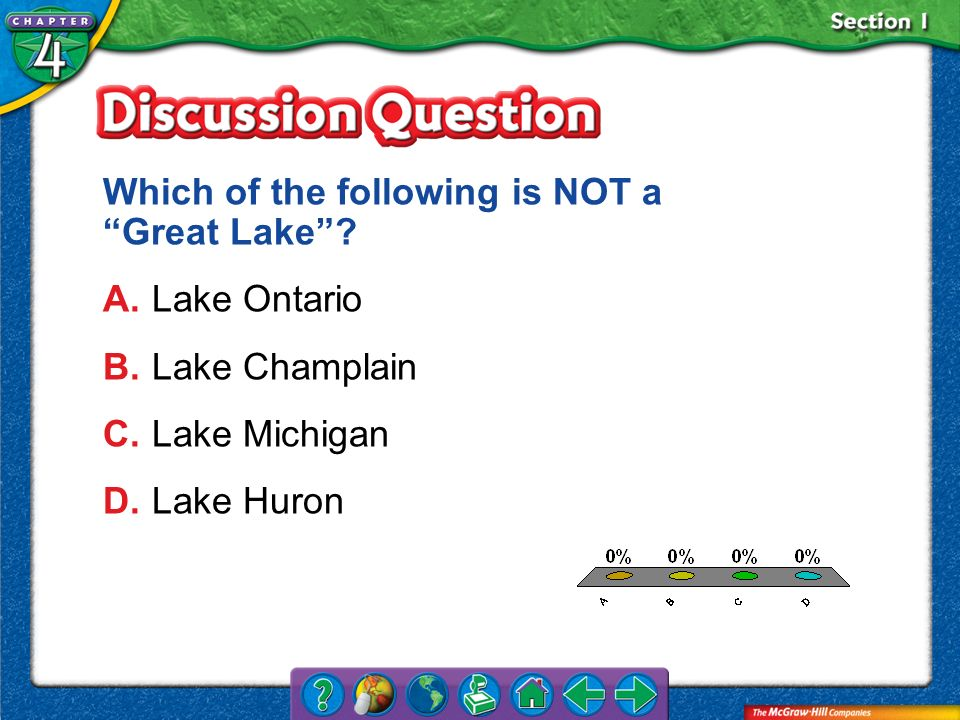 Which of the following is NOT a Great Lake A. Lake Ontario