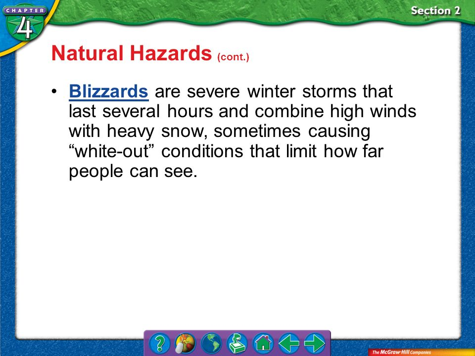 Natural Hazards (cont.)