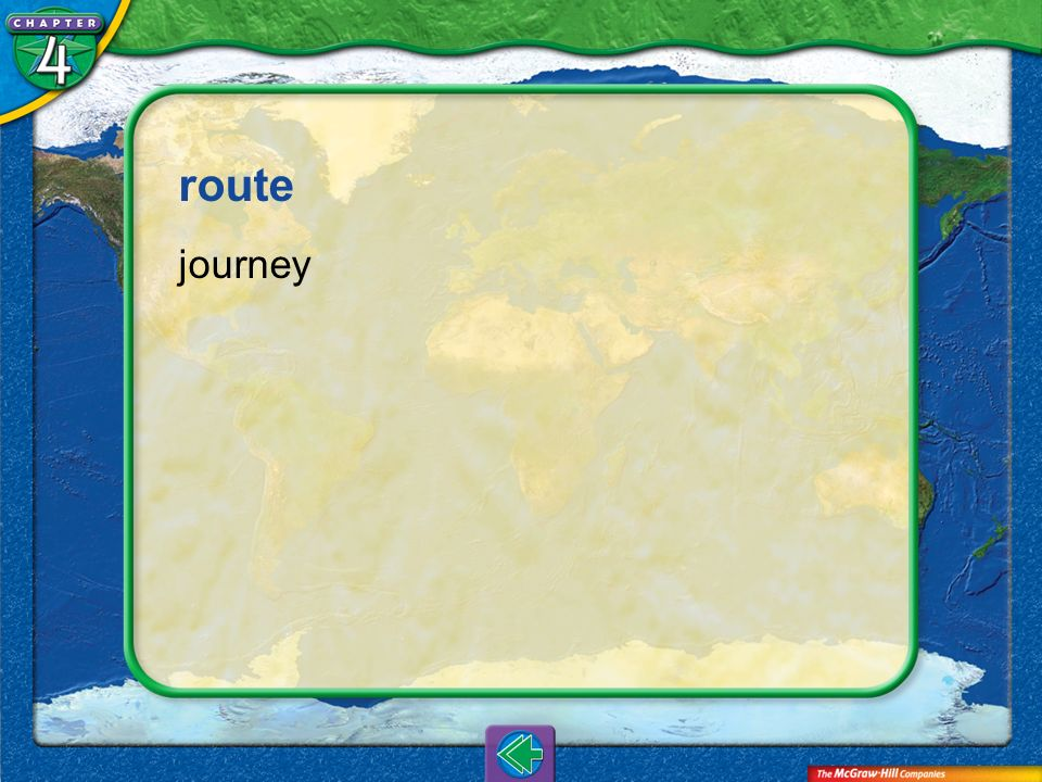 route journey Vocab10