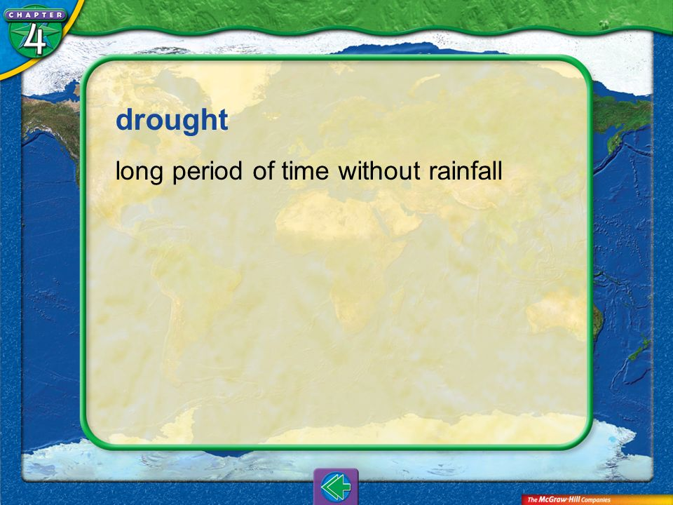 drought long period of time without rainfall Vocab11