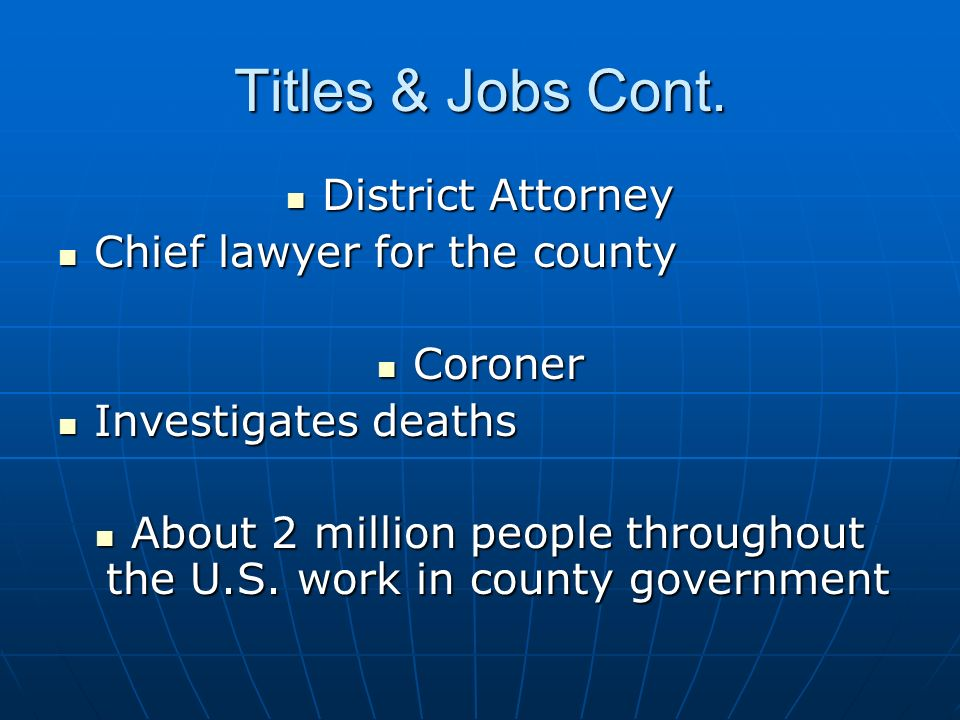 About 2 million people throughout the U.S. work in county government