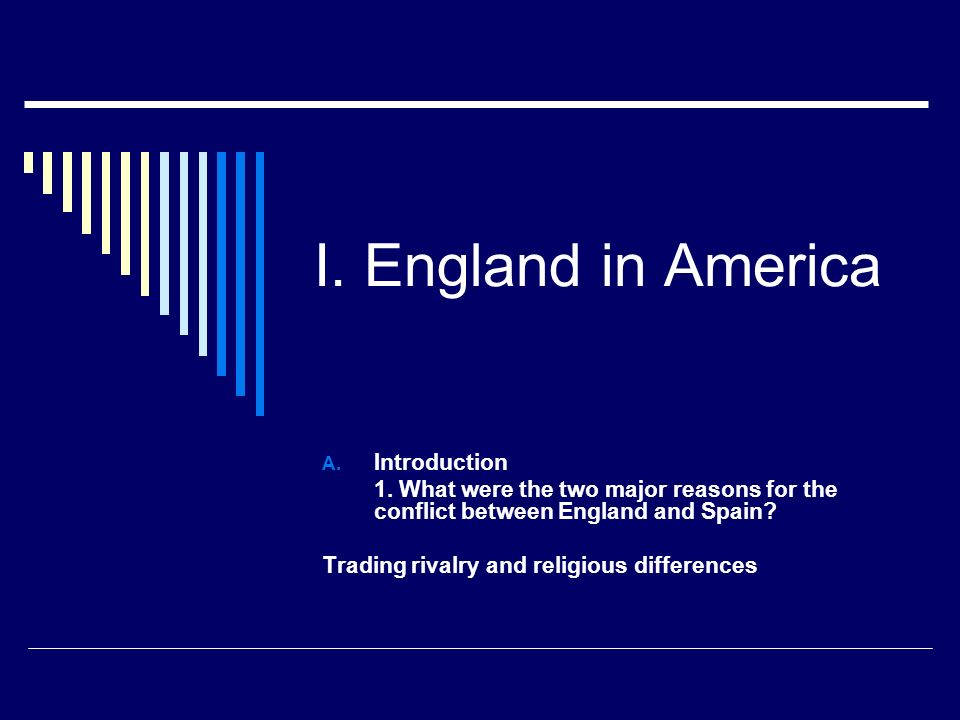 I. England in America Introduction