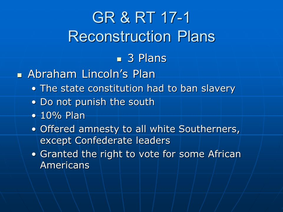 GR & RT 17-1 Reconstruction Plans