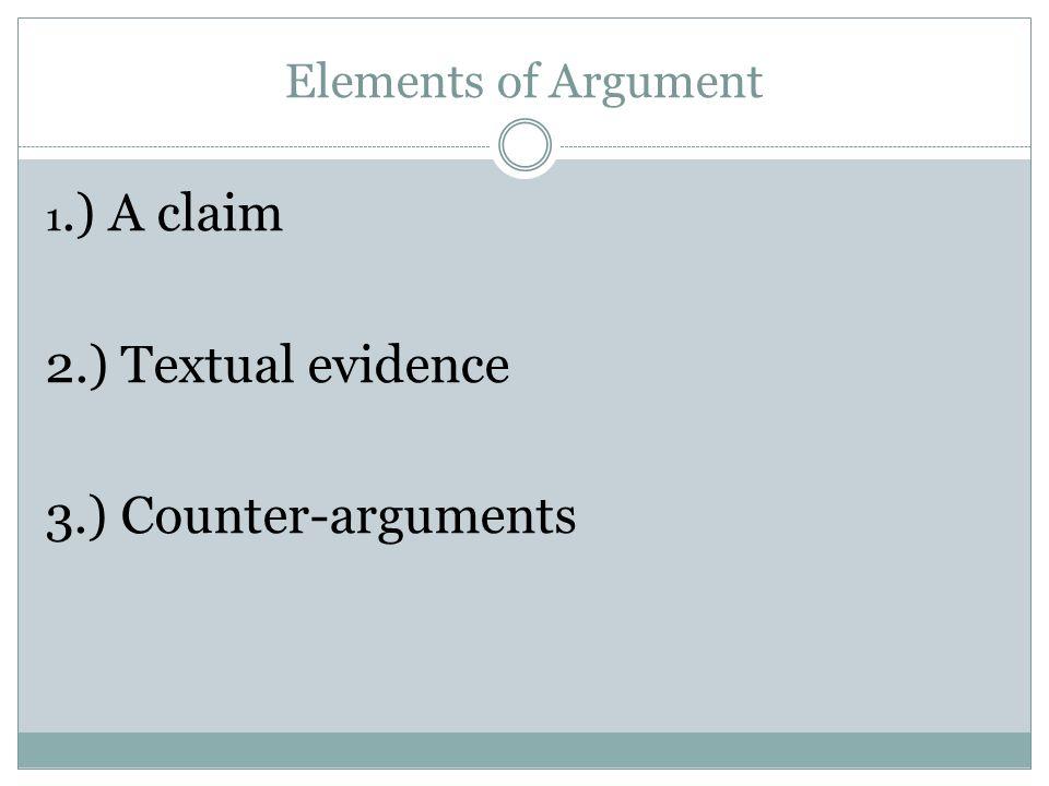 Key elements of an argumentative essay
