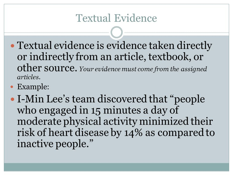 What Is Textual Evidence?