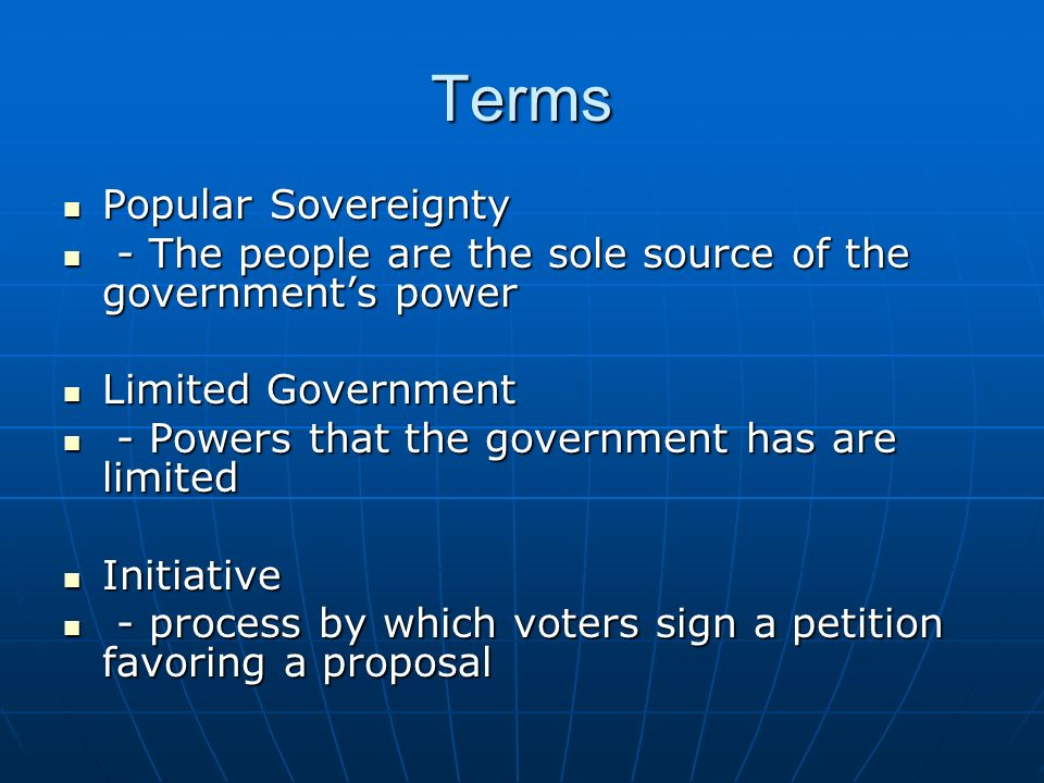 Terms Popular Sovereignty