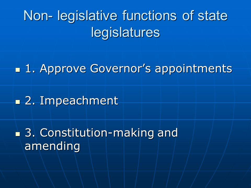 Non- legislative functions of state legislatures