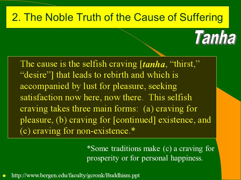 2. The Noble Truth of the Cause of Suffering