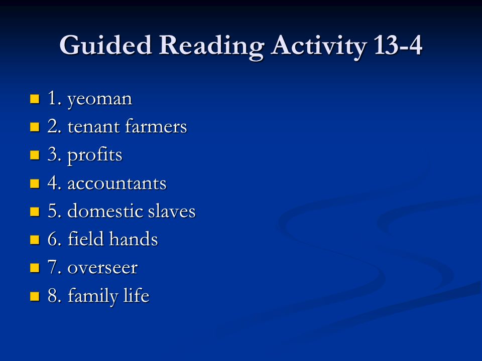 Guided Reading Activity 13-4