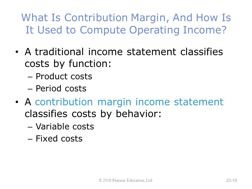 Chapter 20 Cost-Volume-Profit Analysis - Ppt Download