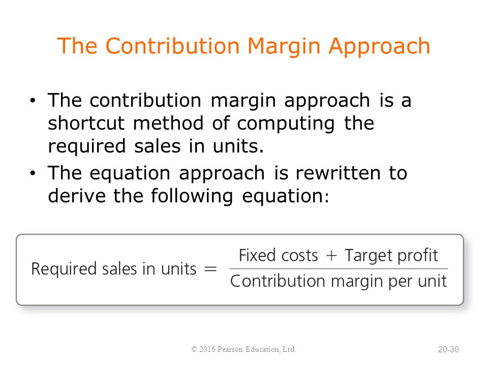 how to get contribution margin ratio