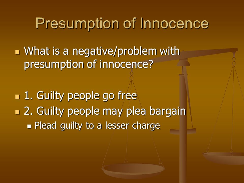 Presumption of Innocence