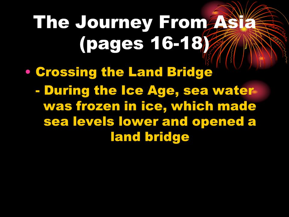 The Journey From Asia (pages 16-18)