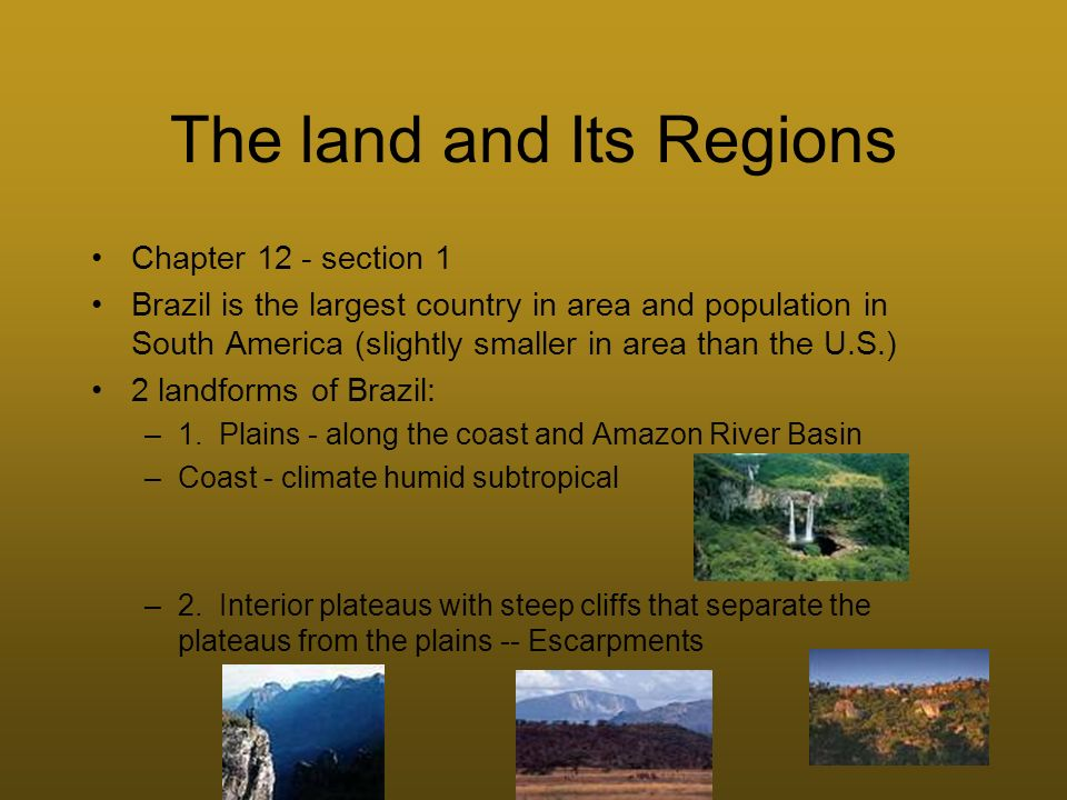 The land and Its Regions