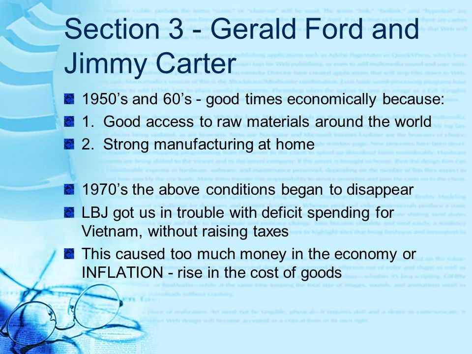 Section 3 - Gerald Ford and Jimmy Carter
