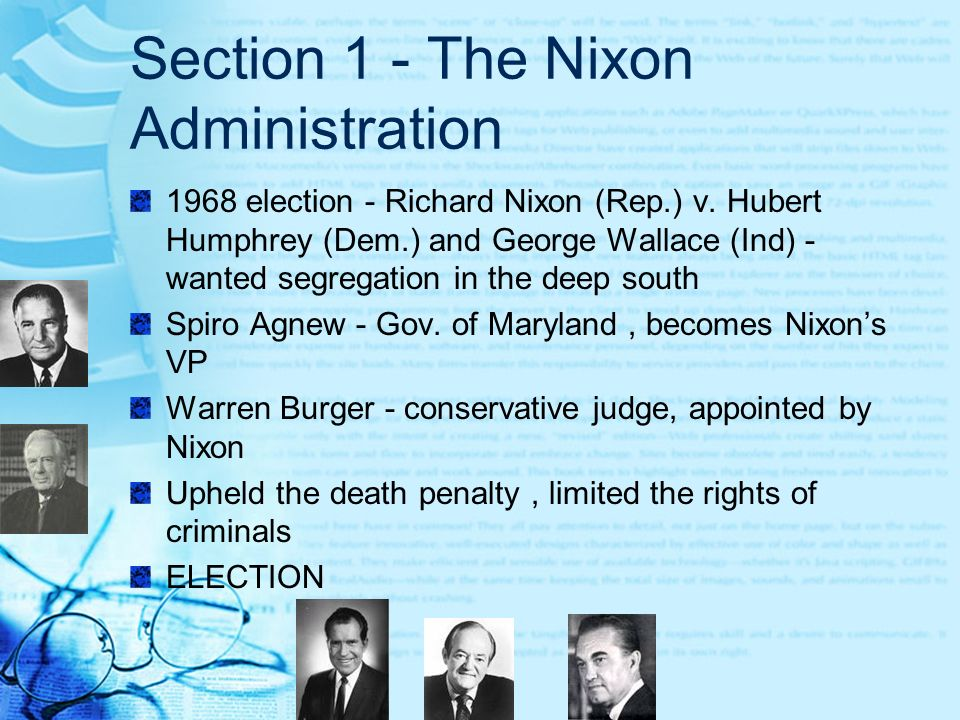 Section 1 - The Nixon Administration